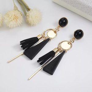 Black Gold Dangling Earrings